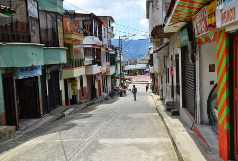 A street in Guática, Risaralda, Colombia
