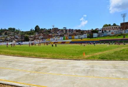 Football stadium in Anserma, Caldas, Colombia