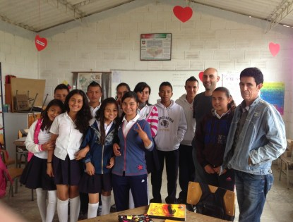 With the students in La Tribuna, Belén de Umbría, Risaralda, Colombia