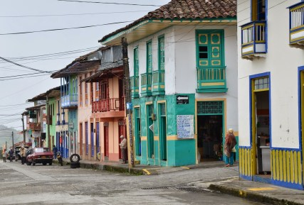 Buildings in Filandia, Quindío, Colombia