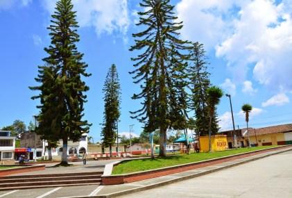 Plaza in San Clemente, Risaralda, Colombia