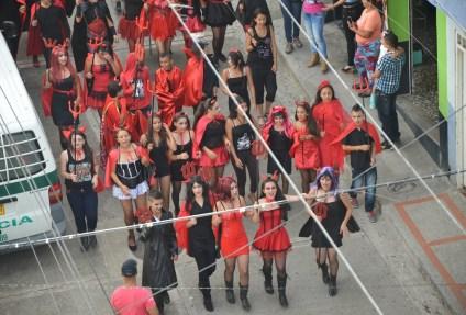 Carnaval del Diablo at the parade in Belén de Umbría, Risaralda, Colombia