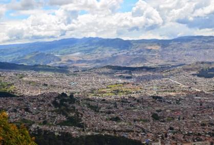 View from Cerro de Monserrate in Bogotá, Colombia