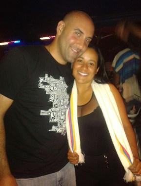 Me and Marisol at the fiesta in Belén de Umbría, Risaralda, Colombia