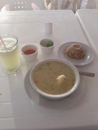 Fish soup at El Muelle in Taganga, Magdalena, Colombia