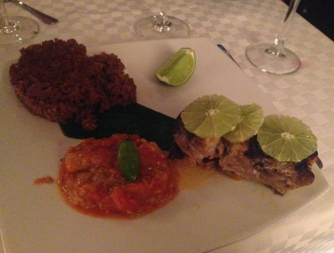 Grouper at Condé in El Centro, Cartagena, Colombia