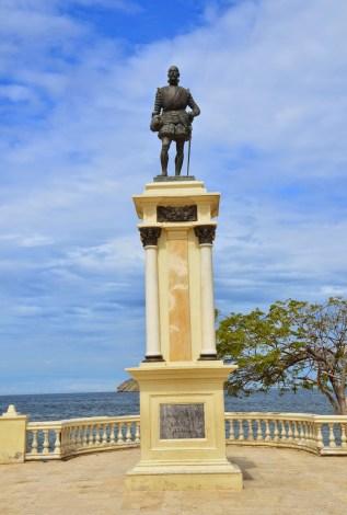 Rodrigo de Bastidas monument in Santa Marta, Magdalena, Colombia