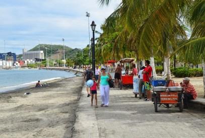 Malecón in Santa Marta, Magdalena, Colombia