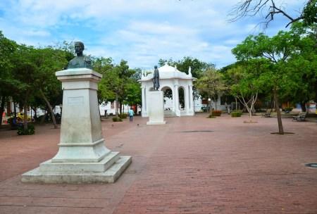 Parque de Los Novios in Santa Marta, Magdalena, Colombia