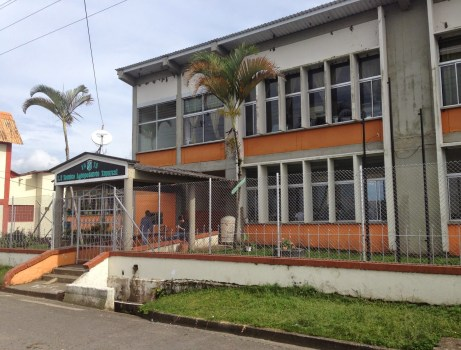 The school in Taparcal, Belén de Umbría, Risaralda, Colombia