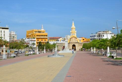 Puerta del Reloj on Las Murallas (City Walls) of Cartagena, Bolívar, Colombia