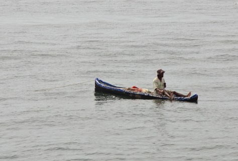 A fisherman on the Caribbean Sea in Colombia