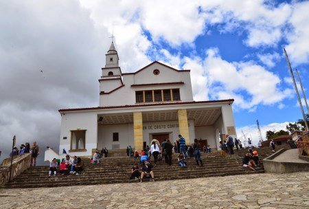 Church on Cerro de Monserrate in Bogotá, Colombia