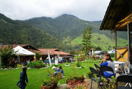 One of the recreational areas at Valle de Cocora, Quindío, Colombia