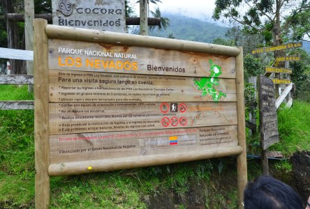 Entrance to Los Nevados National Park at Valle de Cocora, Quindío, Colombia