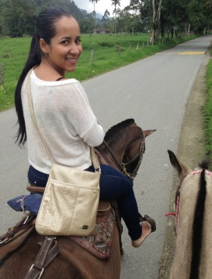 Marisol on her horse on the way to Valle de Cocora, Quindío, Colombia