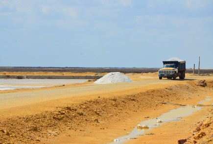 Salt mine in Manaure, La Guajira, Colombia