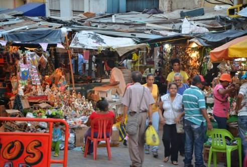 Street market in Barranquilla, Atlántico, Colombia