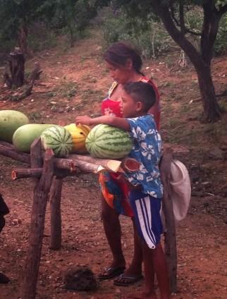 Fruit stand in La Guajira, Colombia