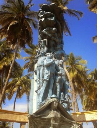 Monument in Riohacha, La Guajira, Colombia