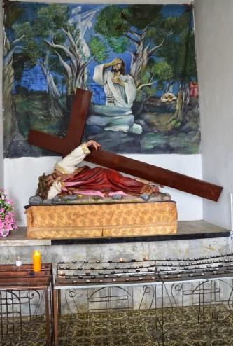 Chapel inside Cristo Rey de Belalcázar in Colombia