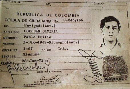 Pablo Escobar's Colombian ID, Colombia