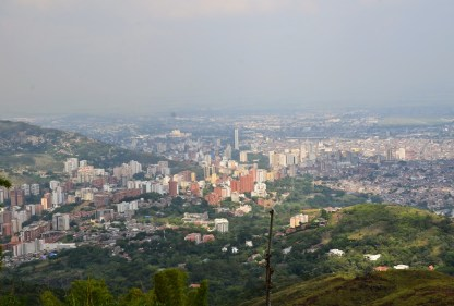 View of Cali from Cristo Rey in Cali, Colombia