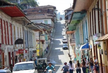 A street in Apía, Risaralda, Colombia