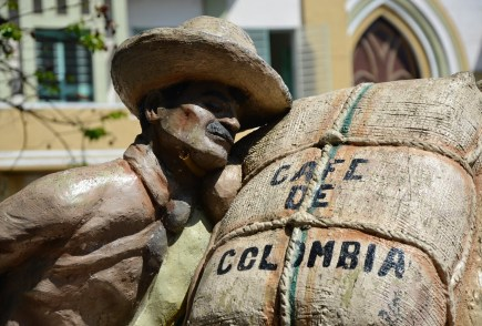 Coffee monument in Apía, Risaralda, Colombia