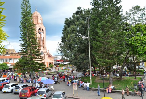 Plaza in Quimbaya, Quindío, Colombia
