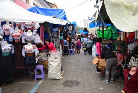 Daily market in Otavalo, Ecuador