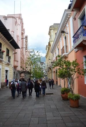 Calle Espejo in Quito, Ecuador