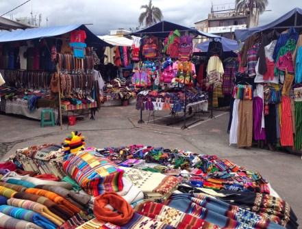 Plaza de los Ponchos in Otavalo, Ecuador