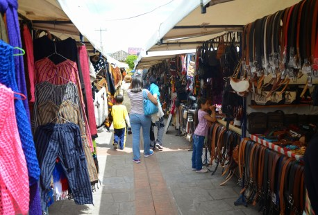 Craft market on Plaza de San Francisco in Cotacachi, Ecuador