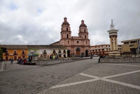 Plaza de la Independencia in Ipiales, Nariño, Colombia