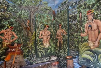 Ethnographic museum at Museo Intiñan at Mitad del Mundo in Ecuador