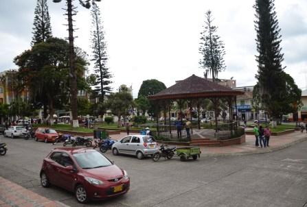 Plaza de San Sebastián in Riosucio, Caldas, Columbia