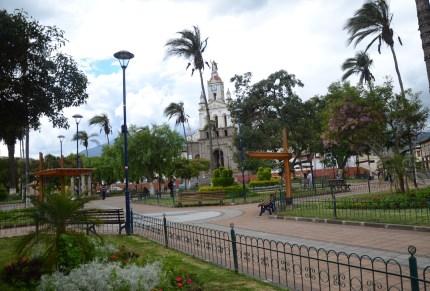 Parque Abdón Calderón in Cotacachi, Ecuador