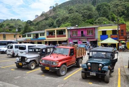 Jeeps in La Celia, Risaralda, Colombia