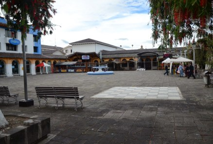 Plaza Francisco Calderón in Ibarra, Ecuador