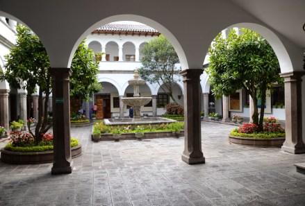Courtyard at Palacio de Carondelet on Plaza Grande in Quito, Ecuador