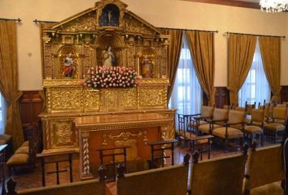 Chapel at Palacio de Carondelet on Plaza Grande in Quito, Ecuador