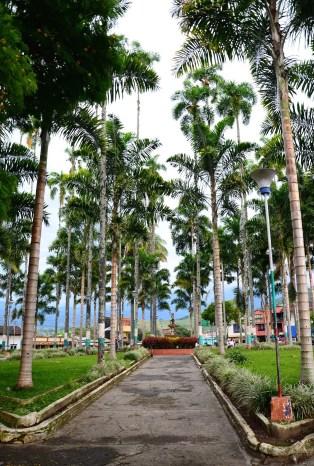 Plaza in Caicedonia, Valle del Cauca, Colombia