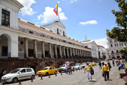 Palacio de Carondelet on Plaza Grande in Quito, Ecuador