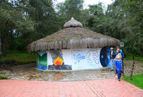 Muisca Hut at Laguna de Guatavita in Colombia