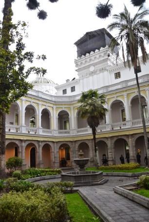 Courtyard at Centro Cultural Metropolitano in Quito, Ecuador