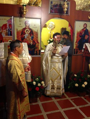 Anastasi service at the Greek Orthodox church in Pereira, Colombia