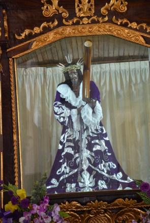 Black Christ at Iglesia de San Felípe in Portobelo, Panama