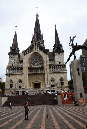 Catedral de Manizales at Plaza de Bolívar in Manizales, Caldas, Colombia