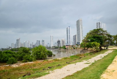 View of modern Panama City from Panama Viejo